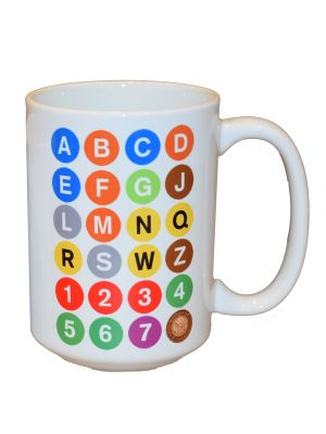 White ABC 15oz Mug